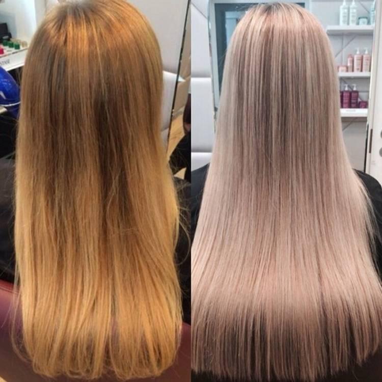 Тонирование волос эстель после мелирования: фото до и после, как выбрать номер краски для мелированных прядей