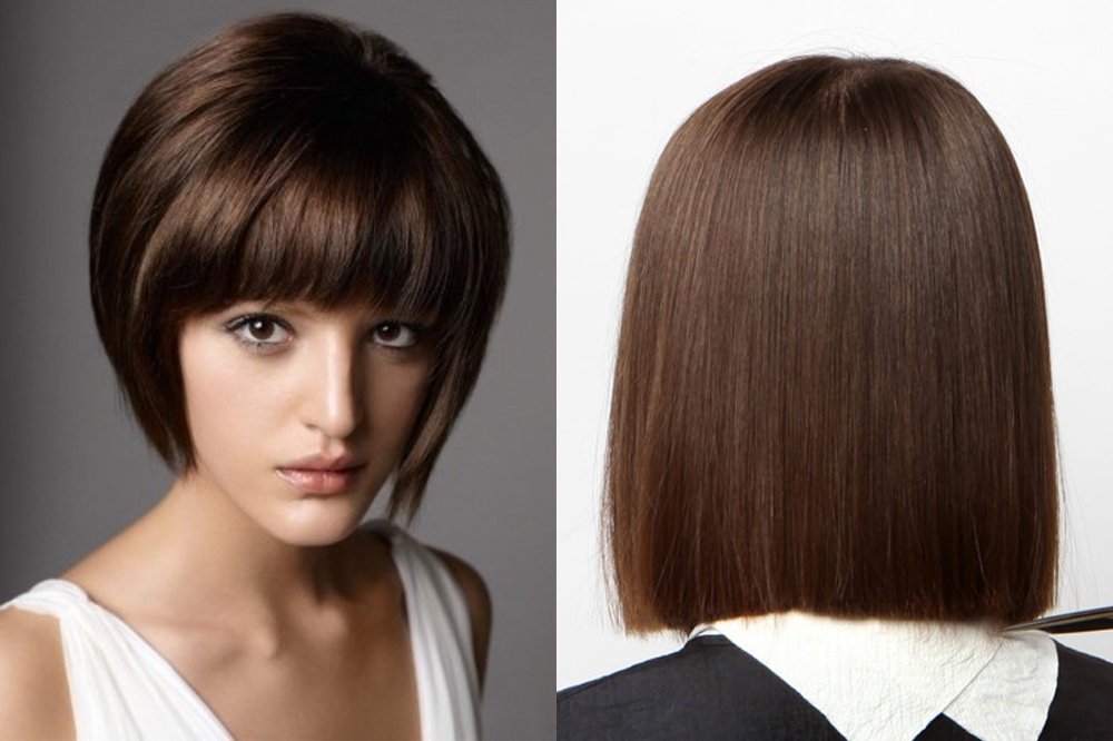 Женские стрижки на средние волосы без челки