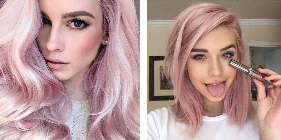 Описание цвета волос розовое золото: как правильно выбрать краску