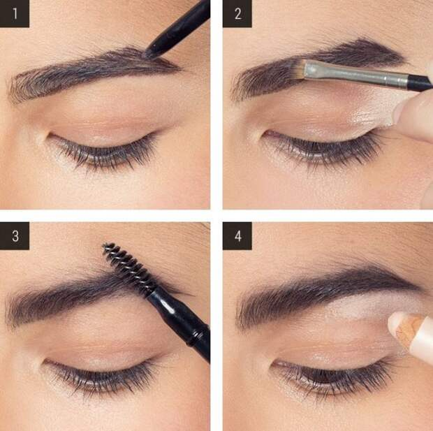 Как правильно сделать макияж бровей - пошаговые фото и видео
