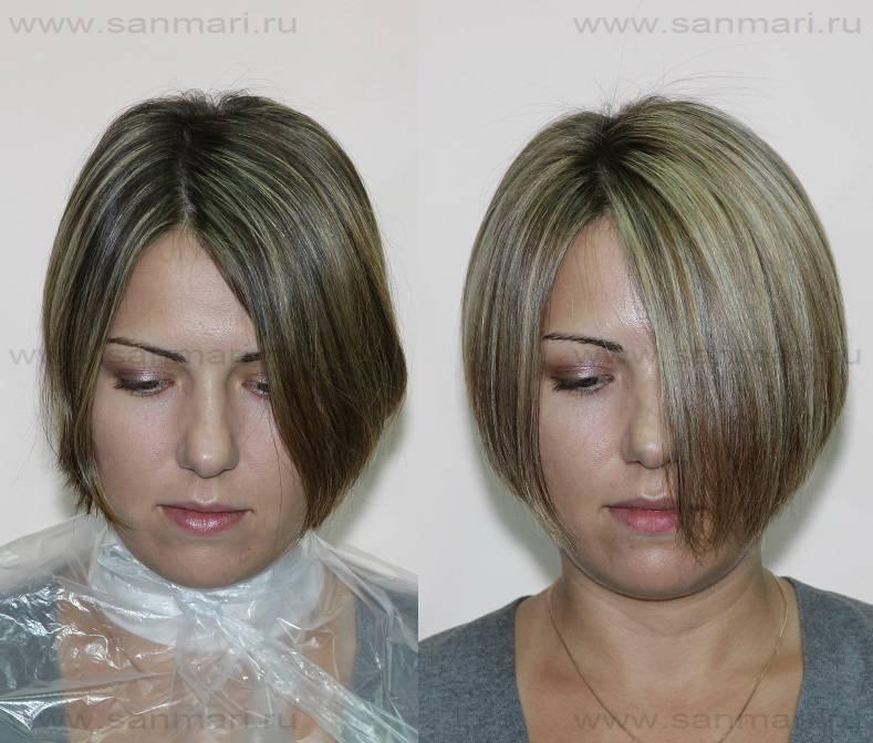 Брондирование каре: темное или светлое на короткие волосы