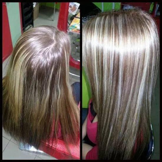Мелирование на окрашенные светлые, темные и рыжие волосы