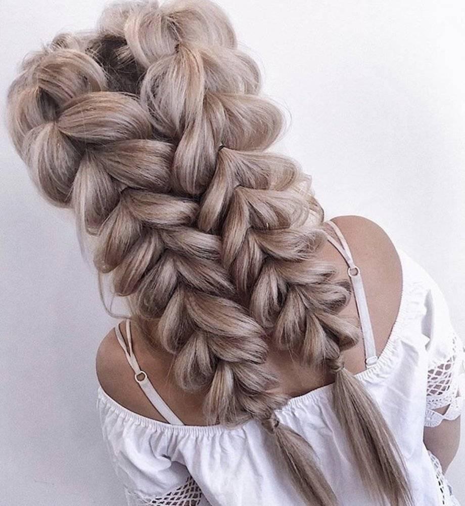 Косы на длинные волосы - схемы плетения и фото