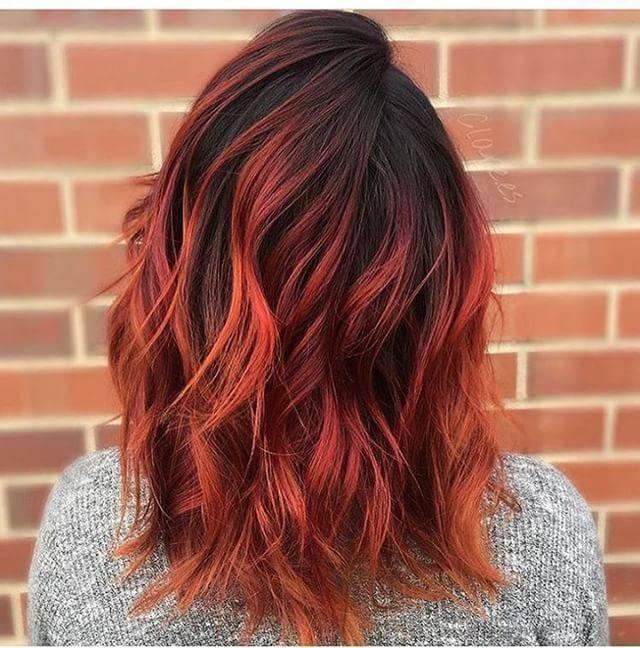 Омбре на каре − 19 вариантов окрашивания на темные и светлые волосы, удлиненное и короткое каре, с челкой и без, фото