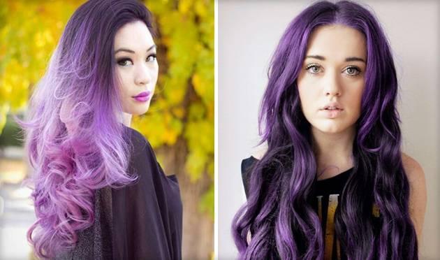 Эксперимент для настоящих модниц — цветное омбре на темные волосы