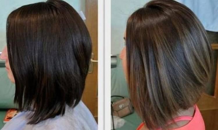 Нюансы и описание процедуры колорирования темных коротких волос. фото до и после окрашивания