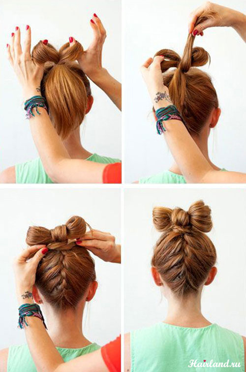 Модная прическа бантик из волос: пошаговая инструкция