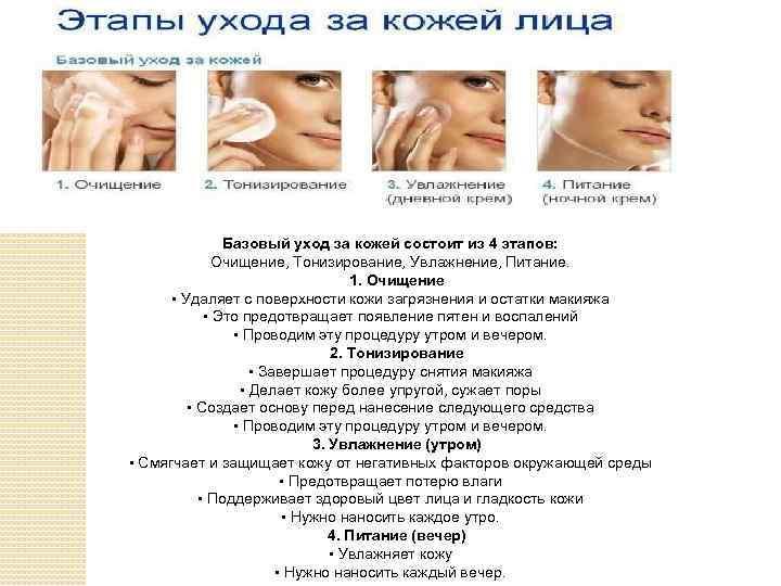 ᐉ этапы ухода за кожей лица – правильная последовательность нанесения косметических средств. этапы ухода за кожей лица и основные правила ➡ klass511.ru