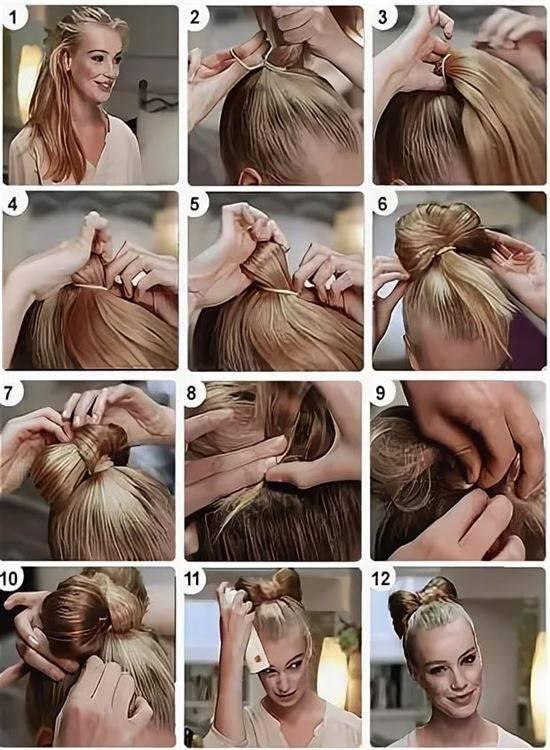 Бант из волос: как сделать модную прическу