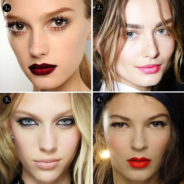 Цвета помады для брюнеток: какой оттенок подходит для девушек с карими и зелеными глазами