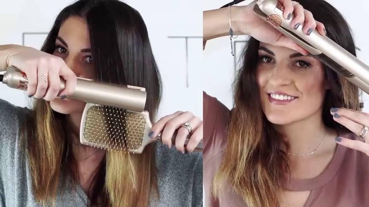 Укладка утюжком на средние волосы: доступные способы