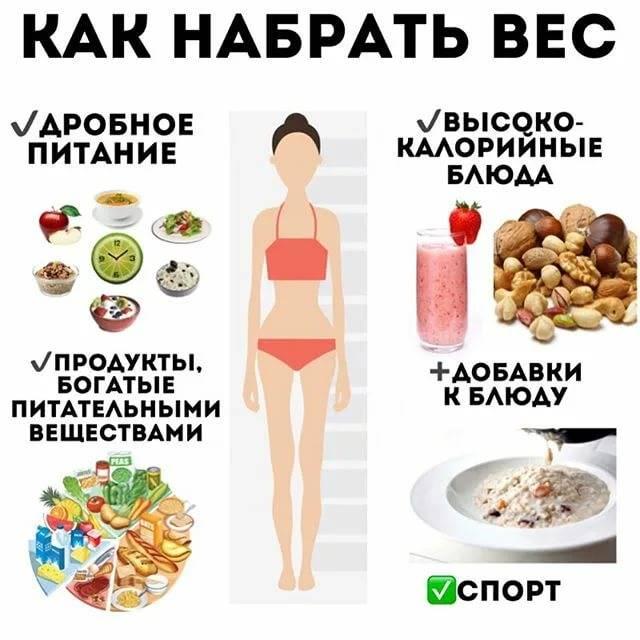 Питание для набора веса: диета для желающих набрать вес в домашних условиях