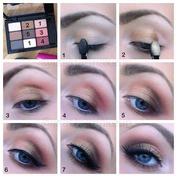 Дневной макияж глаз: фото с пошаговой инструкцией