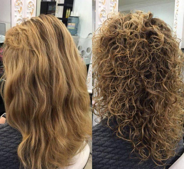 Химическая завивка, крупные локоны: 20 стильных образов и уход за волосами
