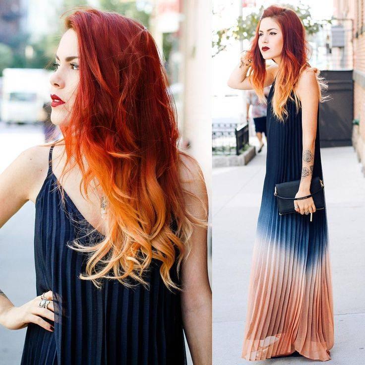 Многогранный и современный рыжий цвет волос