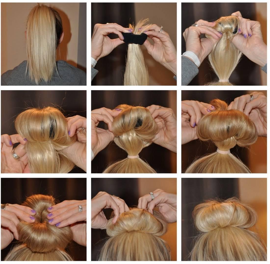 Как сделать ванильный пучок на голове пошагово. ванильный пучок на короткие, средние, длинные волосы