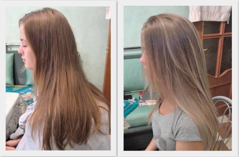 Пошаговая инструкция, как закрасить мелирование в русый цвет, а также фото до и после процедуры