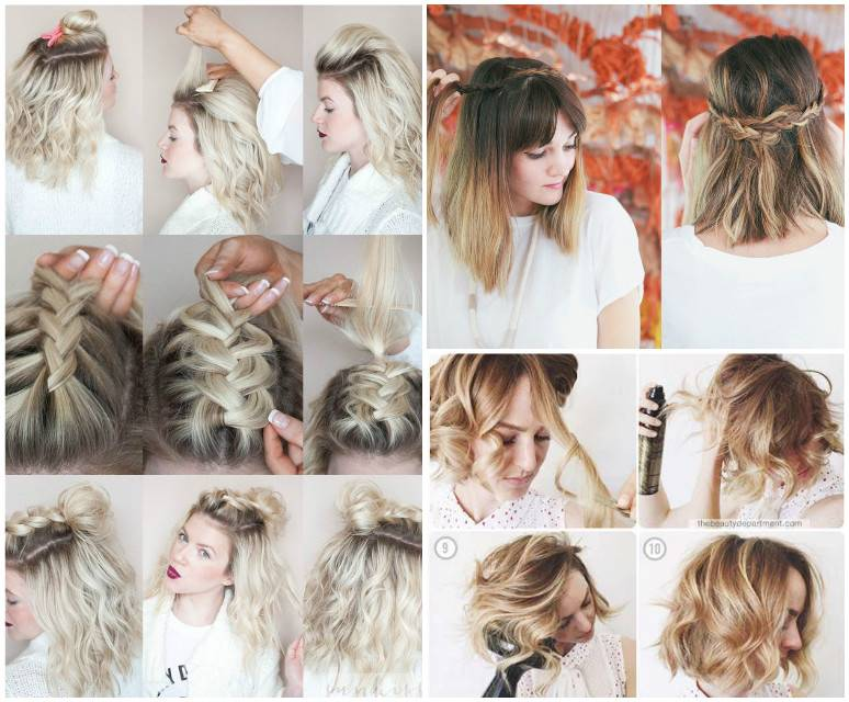 Очень легкие прически на короткие волосы на каждый день с пошаговым фото - уход за волосами