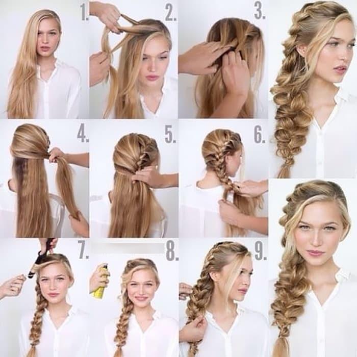 58 способов сделать красивые прически на длинные волосы с пошаговым фото